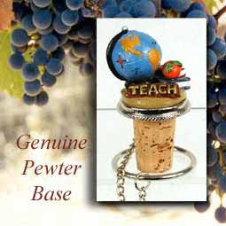 Teacher Cork Bottle Buddy Wine Stopper