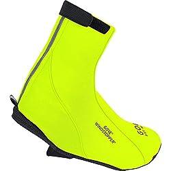 GORE BIKE WEAR Road Windstopper Soft Shell Termo - Botin de ciclismo, color amarillo, talla 42-44