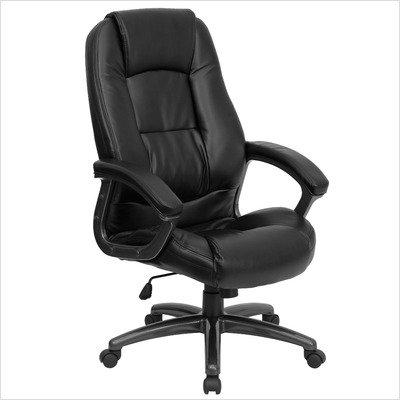 Black Leather Office Chair - GO-7194B-BK-GG