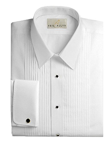 Neil allyn mens tuxedo shirt 100 cotton laydown collar 100 cotton tuxedo shirt