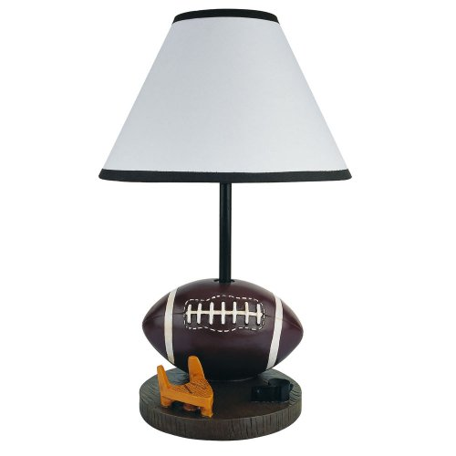 Orc Furniture White Cone Shaped Shade Football Accent Lamp