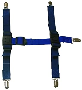 Canine Footwear Suspenders Snuggy Boots for Dog, Large, Blue