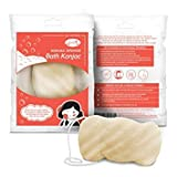 Earthen Beauty All Natural Original Face and Body Konjac Sponge for All Skin Types