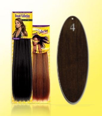 Beauti-Collection-Human-Hair-Weave-Yaki-Weave-16-4-Dark-Brown-Size-16-by-Beauti-Collection