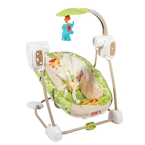 Space Saver Swing And Seat With Rainforest Friends Design By Fisher Price front-169882