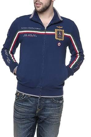 Aeronautica Militare Zip Through Sweatshirt LATO, Color: Blue, Size