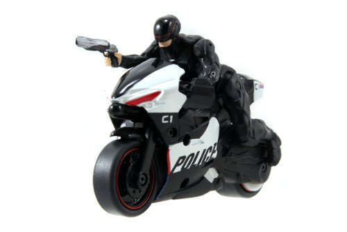 Jada Toys RoboCop Pull Back Police Motocycle with RoboCop 3.0 Action Figure - 1