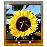3drose Sunflower Desk Clock, 6 by 6-Inch