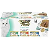 Purina Fancy Feast Seafood Classic Pate Wet Cat Food Variety Pack - (2 Packs of 12) 3 oz. Cans
