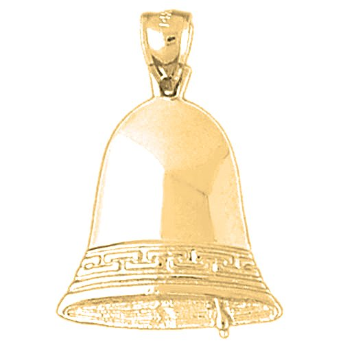 Gold-Plated 925 Sterling Silver Liberty Bell Pendant