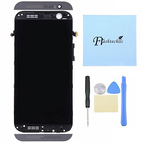 Lcd Display Touch Screen Digitizer + Frame Assembly For Htc One M8 831C Gray Or Silver (Gray)