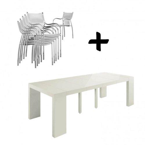 Table extensible chaises pas cher - Console table extensible pas cher ...