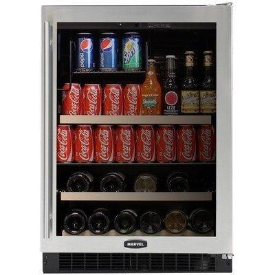 Luxury Dual-Zone Beverage And 14-Bottle Wine Refrigerator Door: Stainless, Hinge: Left front-625260