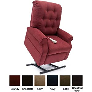 Mega Motion Lift Chair Easy Comfort Recliner LC-200 3 Position Rising Electric Power Chaise Lounger (Brandy)