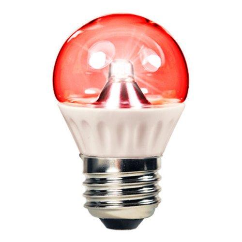 1.3 Watt - Led - S11 - Red - 25 Lumens - 15 Watt Equal - E26 Base - 110-220 Volt - Dynasty 31030-R