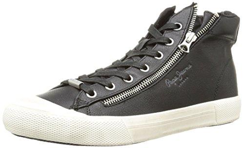 Pepe JeansBrother Zip - Sneaker uomo , Nero (Noir (999Black)), 44