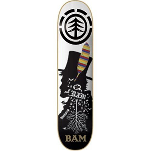 Element BAM FEATHER Fiberlight Skateboard Deck - 7.875