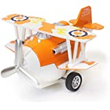 The Flyer's Bay Bi-Plane Air Plane Model Decor Toy Collectible With Sound And Working Wings (Die Cast Version)...