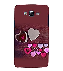 printtech Love Heart Wooden Pattern Back Case Cover for Samsung Galaxy J7 (2016 EDITION)