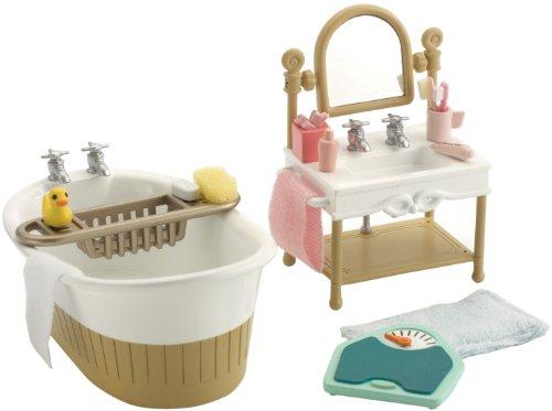 Sylvanian families ensemble petite salle de bain small for Petit mobilier salle de bain