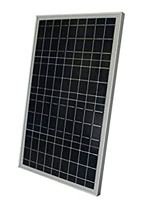 Complete 30 Watt Solar Panel Kit: 30W Polycrystalline Solar Panel + 20A Charge Controller + MC4 Connectors + Mounting Z brackets for 12V Off Grid Battery Charging Boat RV Gate from WindyNation