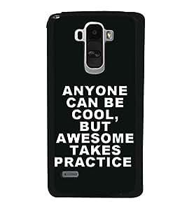 Attitude Quote 2D Hard Polycarbonate Designer Back Case Cover for LG G4 Stylus