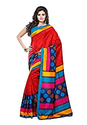 Bansy Fashion Multi Coloured Art Silk Printed Saree/Sari
