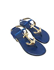Bowtoes Blue Anchor Flats - BAF-024-BLUE