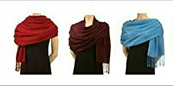 Letz Dezine Viscose set of Three multicoloured stoles; scarf and stoles for women
