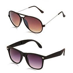 MagJons brown Yuva and black wayfaere Sunglasses Set Of 2 (With Box)