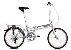 Dahon Mariner D7 Brushed Folding Bike Bicycle W/SKS Fenders & Rear Rack by Dahon