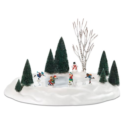 Department 56 801130 Animated Skating Pond,  17.5 x 14- Inch.