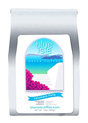 Blue Isle Coffee - Special Reserve Colombia HUILA SUPREMO, Whole Bean 12oz