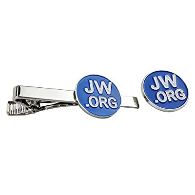 Jw.org Metal Necktie Clip and Lapel Pin Gift Set Silver or Gold Color Withe Gift Box