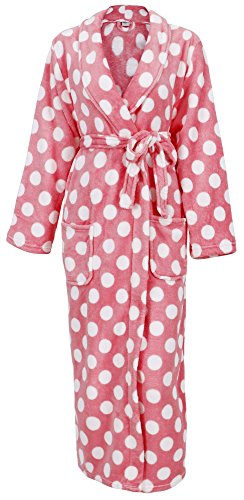 Simplicity Women's Ultra Soft Plush Kimono Bathrobe with Pockets