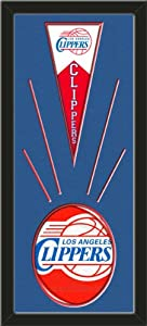Los Angeles Clippers Wool Felt Mini Pennant & Los Angeles Clippers Team Logo... by Art and More, Davenport, IA