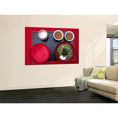 (48X72) Karl Blackwell - Overhead Of Traditional Japanese Noodles And Oolong Tea Huge Wall Mural