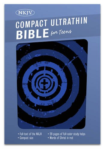 NKJV Compact Ultrathin Bible for Teens, Blue Vortex LeatherTouch