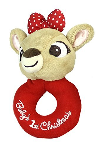Baby's First Christmas Ring Rattle - Clarice - 1
