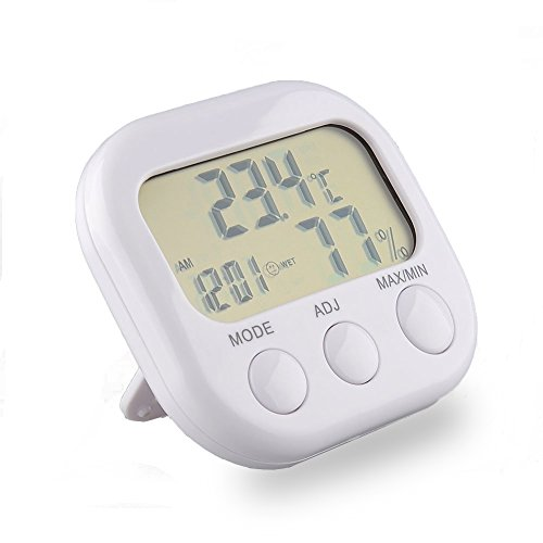 Sungwoo 3 in 1 mini indoor digital thermometer hygrometer for Bedroom temperature