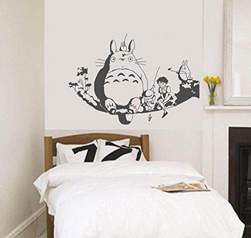 My Neighbour Totoro Wall Decor Decal Baby Kid'S Room Sticker Nursery Wall Art Decor Mural (Grey) front-678465