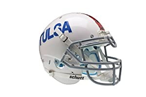 NCAA Tulsa Golden Hurricane Authentic XP Football Helmet, White by Schutt