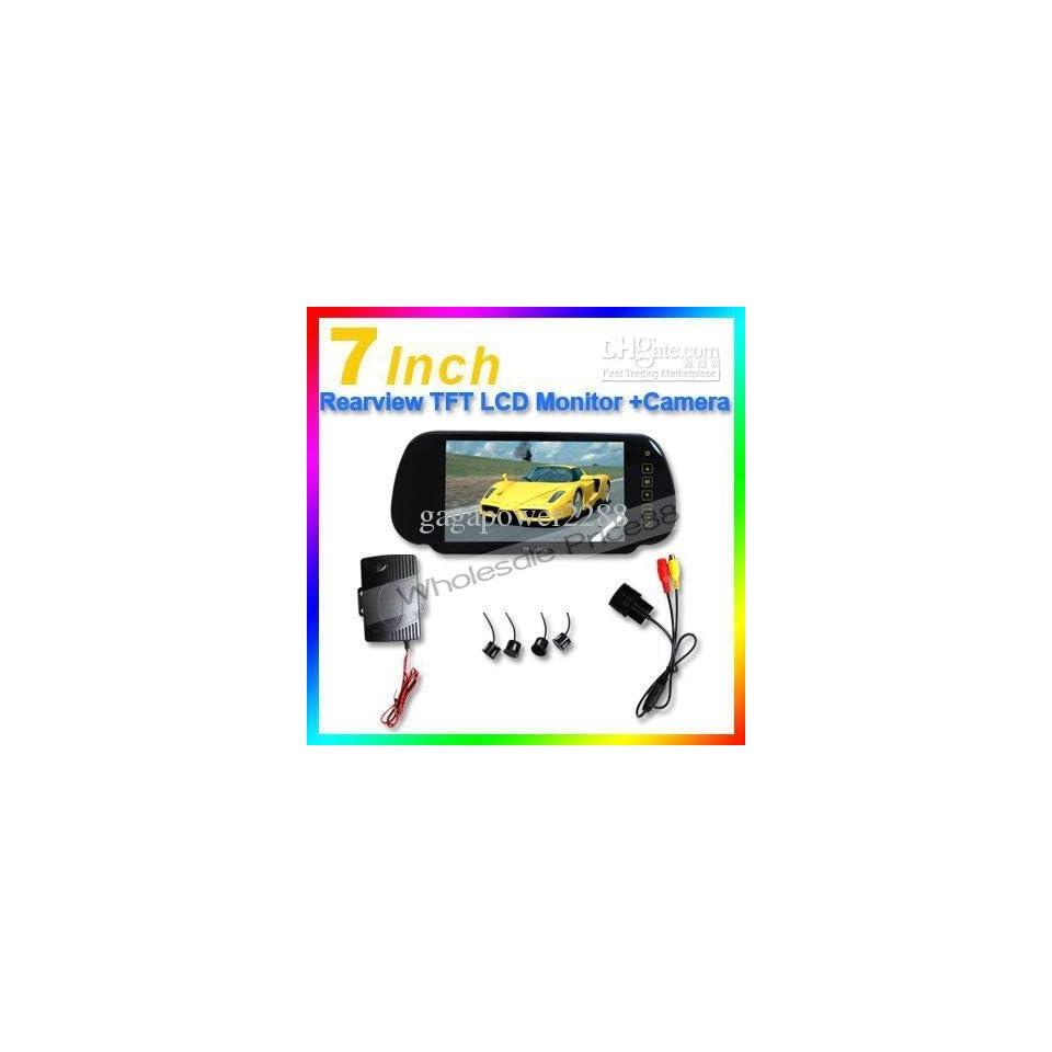 w aterproof cm02 7 tft lcd touch screen car rearview mirror monitor sensor box packing sensor