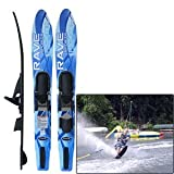 Rave Adult Rhyme Shaped Combo Water Skis (Blue) by Rave