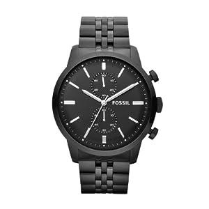 Fossil Herren-Armbanduhr XL Chronograph Quarz Edelstahl beschichtet FS4787