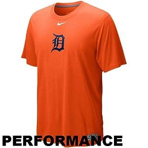 Detroit Tigers Orange Logo Legend Dri-FIT T-Shirt by Nike by Nike