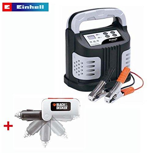EINHELL KFZ Batterieladegerät Ladegerät BT BC 12 D-SE - inklusive BLACK & DECKER Spannungswandler