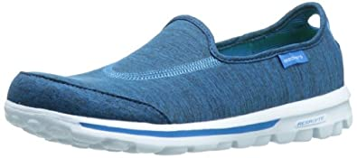Skechers Performance Footwear Women's Go Walk Interval Fashion Sneaker,Blue,5.5 M US