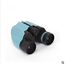 Genuine High-powered Telescope Hd Mini Birding Binoculars Non-infrared Telescope Concert for Children-green-blue