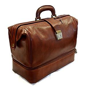Genuine italian leather doctor bag messenger handbag ladies men medical leatherbag briefcase vintage brown made in Italy luxury travel bag